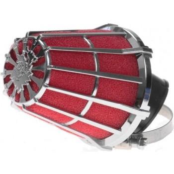 Luchtfilter Malossi E5 32 mm Rood / Chroom Recht