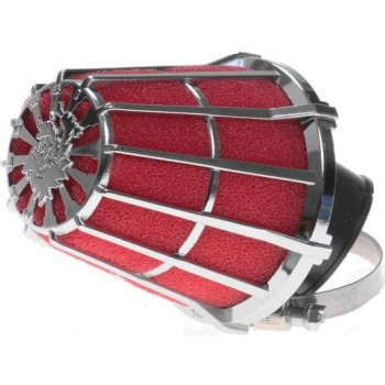 Luchtfilter Malossi E5 28 mm Rood / Chroom Schuin