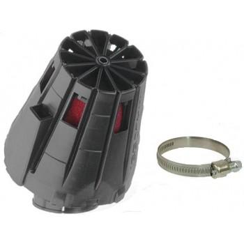 Luchtfilter Malossi E5 38 mm Zwart Schuin