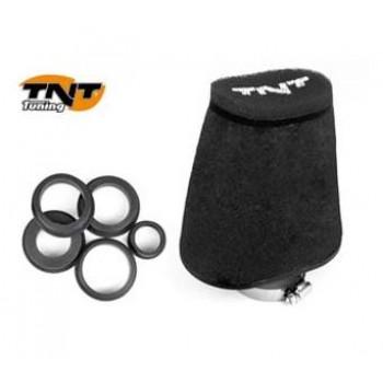 Luchtfilter TNT Groot 28/55 mm Zwart