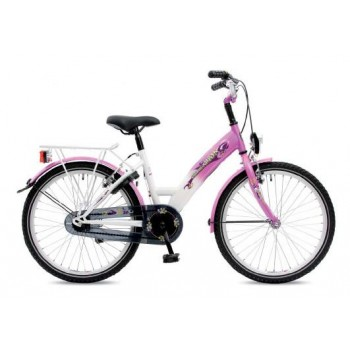"Kinderfiets 22"" Golden Lion Girls Stokroos / Snow White"