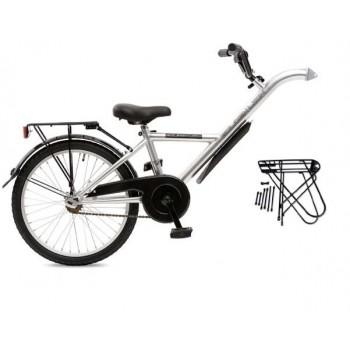 Trailer Bike 20'' Golden Lion Shiny Silver