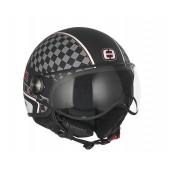 Helm Speeds Jet Cool Graphic Mat Zwart / Wit