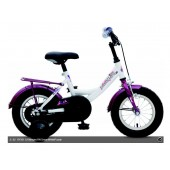 "Kinderfiets 12"" Golden Lion Girls Snow White / Purple"