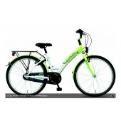"Kinderfiets 24"" Golden Lion Girls Snow White / Green"