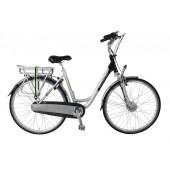Elektrische fiets Bikkel Dames Ibee T3 Nexus 8V 14,5A Silver / Black
