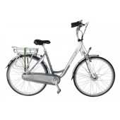 Elektrische fiets Bikkel Dames Ibee T3 Nexus 8V 14,5A Titanium / Pearlwhite