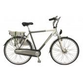 Elektrische fiets Bikkel Heren Ibee T3 Nexus 8V 14,5A Titanium / Pearlwhite