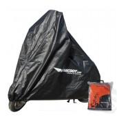 Scooterhoes NVS Zwart Scooter Met Windscherm + Topkoffer