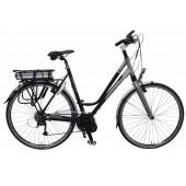 Elektrische fiets Bikkel Ibee ML Dames Derailleur 9V 14,5A Black / Darksilver