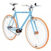 Retro Style Fiets Cheatah Bikes 28'' Heren Blauw / Oranje Gulf