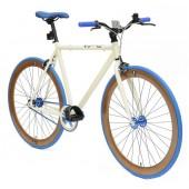 Retro Style Fiets Cheatah Bikes 28'' Heren Creme / Bruin
