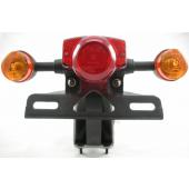 Achterlicht Compleet AGM Retro Scooter Zwart